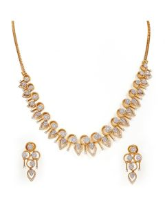159VG2151 | Enthralling Diamond Necklace Set