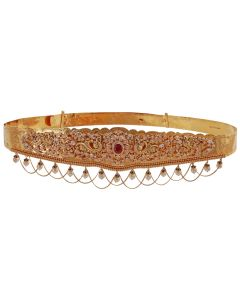 57VG1207 | Magnificent Floral Ruby Gold Vaddanam