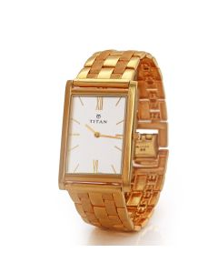66VG74 | Titan Men's Gold Watch
