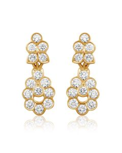 JEF21581B | Cheery Carnation Diamond Earrings