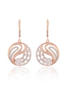 JEF60391E | Bella Swan Diamond Hoops Earring