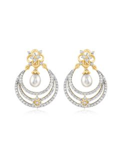 JEF14541H | Radiant Chandbali Diamond Earring