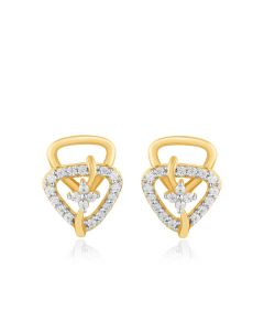 JES36170Q | Pyramid Duet Diamond Studs Earrings
