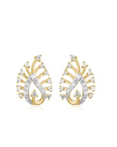 JEN14480T | Peacock Queen Diamond Studs Earrings
