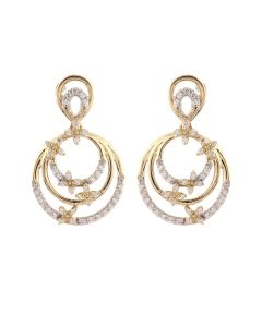 JEN27320E | Orbital Butterfly Diamond Hoops Earring