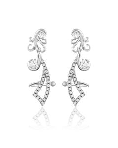 JEF60380H | Merry Mermaid Diamond Studs Earring