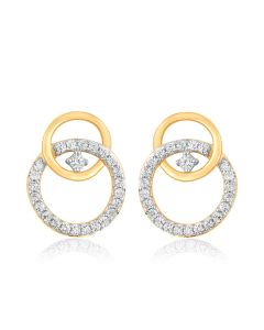 JEF39150Q | Loop a Hoop Diamond Studs Earrings