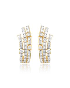 JEG030408 | Holy Triad Diamond Hugs Earrings