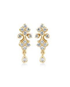 JES176306 | Chandelier Chime Diamond Dangles Earring