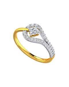 VR-130   22k Zipped and Sealed Gold Ring