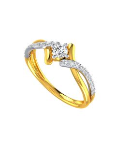 VR-139   22k Solitaire Spindle Gold Ring