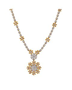 159VG1923 | Delicate Floral Diamond Necklace