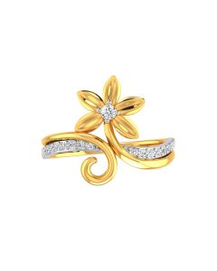 VR-29   22k Forget me not Gold Ring
