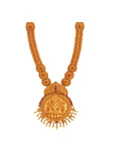 VJ-A-23C | Aarna Temple Gold Necklace