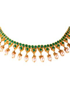 110VG3498 | Effortless Emerald Gold Necklace