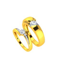VCR724 | 22k Solitaire Love Gold Bands