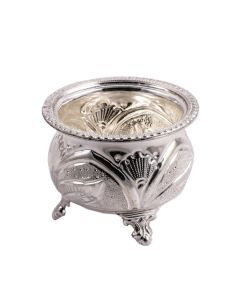 330VC6277 | Elephant Beaded Silver Pooja Bowl
