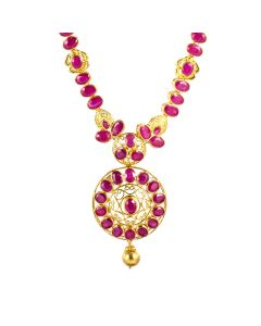 110MP3435 | Ingenuous Ruby Gold Necklace