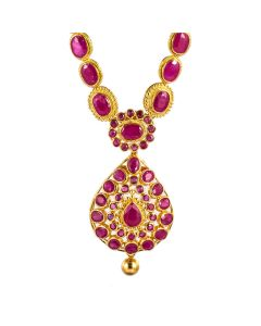 110MP3507 | Inspiring Ruby Gold Necklace