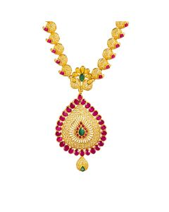 111MP2150 | Elementary Ruby Gold Necklace