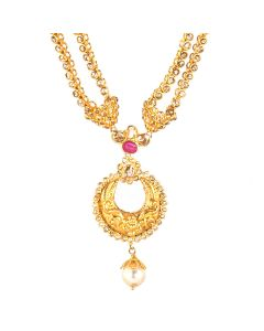 117G181 | Double Chained Chandbali Necklace