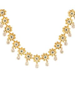 117VG286 | Starry Antique Gold Polki Necklace