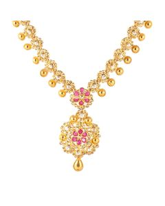 117VG398 | Polki Bottu Gold Necklace