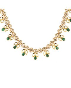 117VG487 | Glazed Polki Gold Necklace
