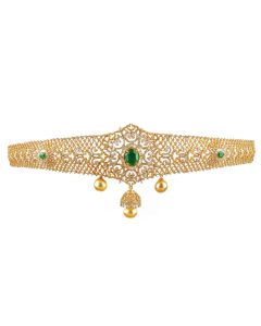198VG119 | Emerald Hued Diamond Vaddanam