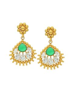 135G964 | Antique Gold Studed Hanging Earrings