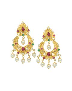 74VI5225 | 22K Gold Chandbali Earrings
