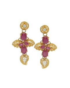 76VG2760 | Precious Gold Paisley Drop Earrings