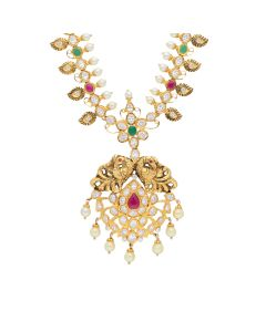 110VG2548   Paisley Outlined CZ Pachi Necklace