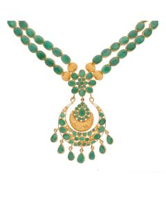 110VG3143   Double Layered Emerald Necklace