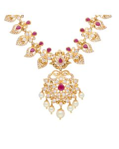110VG3625   Ruby Powered CZ Pachi Necklace