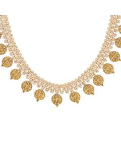 117MP490 | Ram Parivar Antique Gold Polki Necklace