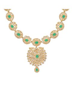 117VG342 | Grand Emerald Antique Polki Necklace