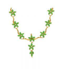 10VG3474 | Gold  Fancy Emerald Necklace 10VG3474