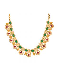 110VG4196 | 22kt Gold  Chetam Necklace  110VG4196