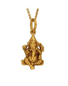 127VG3735 | Lord Ganesh Antique Gold Pendant 127VG3735