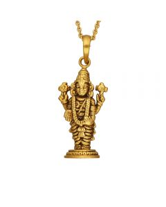 561VA155 | Antique Gold Venkateswara Temple Pendant  561VA155