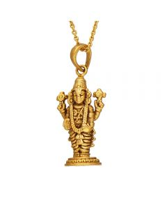 561VA156 | Antique Gold Venkateswara Temple Pendant  561VA156