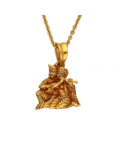 561VA178 | Antique Gold Lord Radha Krishna Pendant  561VA178