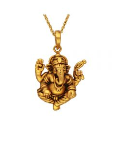 561VA194 | Antique Vinayagar Gold Pendant 561VA194