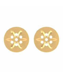 VER-2034 | Vaibhav Jewellers 14K Yellow Gold Studs Earrings VER-2034