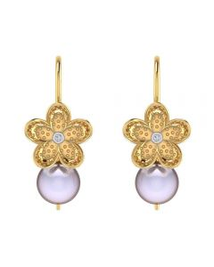 VER-2071 | Vaibhav Jewellers 14K Yellow Gold Drops Earrings VER-2071