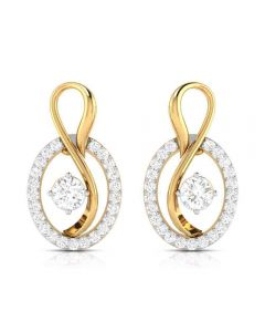 VBJ-8518ER | Vaibhav Jewellers 18K Diamond Danglers Earrings VBJ-8518ER
