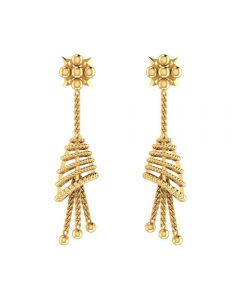 VER-1085 | Vaibhav Jewellers 14K Yellow Gold Jhumka Earrings VER-1085