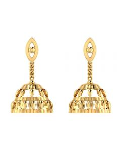 VER-1098 | Vaibhav Jewellers 14K Yellow Gold Drops Earrings VER-1098