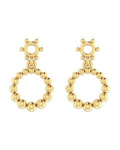 VER-1099 | Vaibhav Jewellers 14K Yellow Gold Hoops Earrings VER-1099
